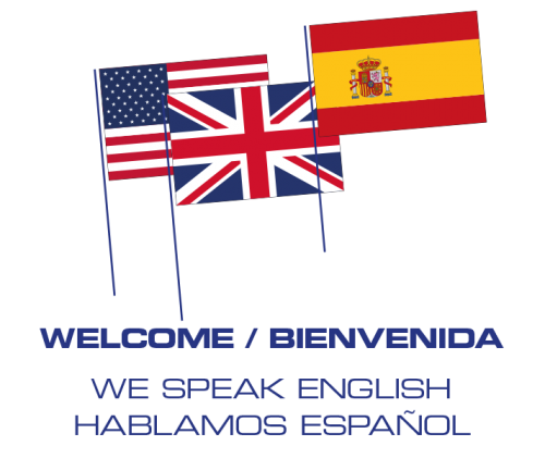 We speak english | Hablamos Español